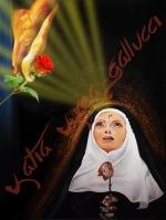Il miracolo della Rosa, dedicato a Santa Rita da Cascia - Divinità Occidentale Tecnica: Misto Materico Pigmentato su Tela