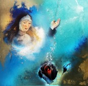 Trittico Virtù Teologali Titolo: Carità - Misto Materico Pigmentato su Tela