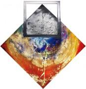 Trittico Virtù Teologali - Titolo: Fede - Misto Materico Pigmentato su Tela