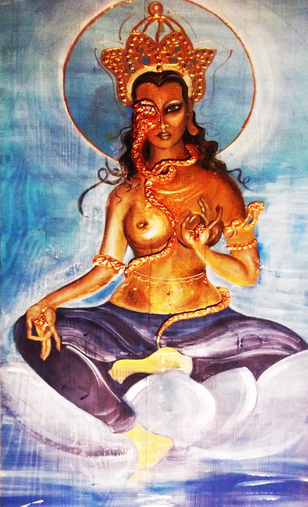 Titolo: Tara, la Buddha - Misto Materico Pigmentato su Tela