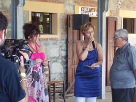 io e la dottoressa Stefania Montori ed il Critico d'Arte Emidio Di Carlo