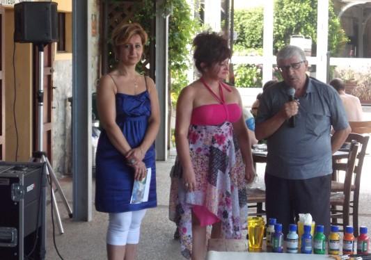 Stefania Montori, curatrice d'arte, io ed il critico d'Arte Emidio Di carlo
