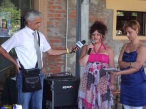 il giornalista Devis Colombi durante l'intervista