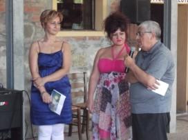 la dottoressa Stefania Montori, io ed il Critico d'Arte Emidio Di Carlo